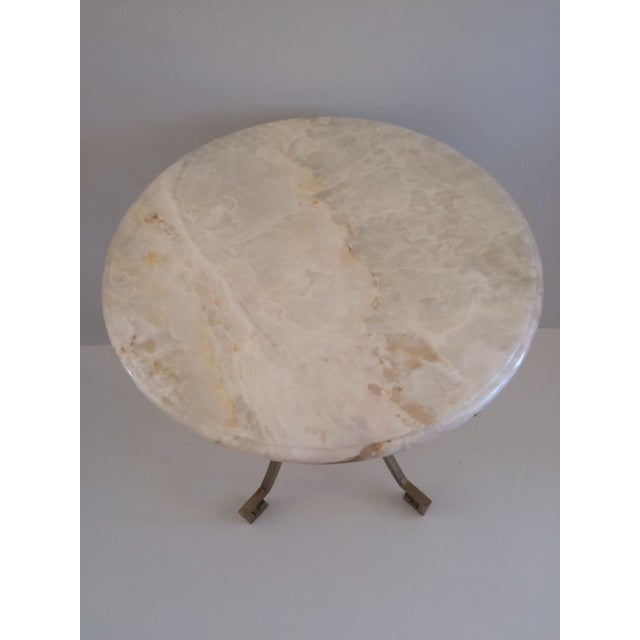 Onyx Todd Hase Christelle Gueridon Onyx Top Side Table For Sale - Image 8 of 9