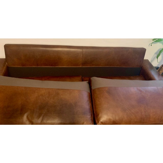 Sensational Restoration Hardware Maxwell Leather Sofa Evergreenethics Interior Chair Design Evergreenethicsorg