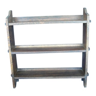 20th Century Mission Oak 3-Tier Book Shelf For Sale