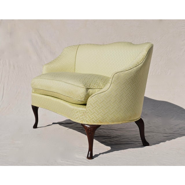 Mid 20th Century Curved Camel Back Demi Settee For Sale - Image 5 of 14