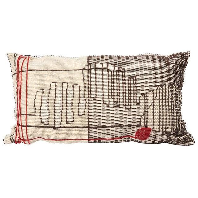 """Schumacher Schumacher Artigianale Italian Handwoven Cactus Red 47"""" Oversized Floor Pillow For Sale - Image 4 of 4"""
