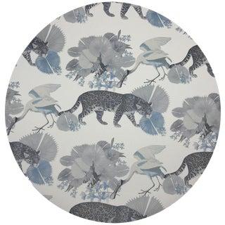 "Nicolette Mayer Leopard Walk Powder 16"" Round Pebble Placemats, Set of 4 For Sale"