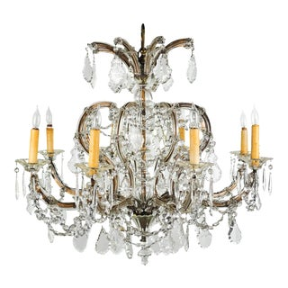 Antique Traditional French Lead Crystal Chandelier