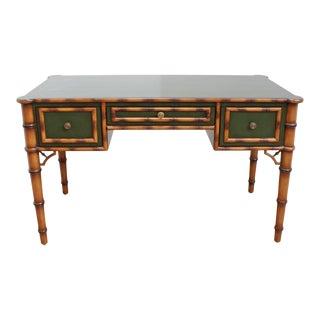 Vintage Faux Bamboo Directoire Desk - Julia Gray For Sale