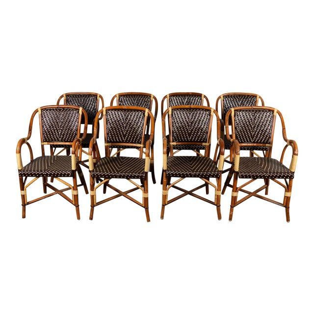 Rattan Dining Chairs- Set of 8 For Sale