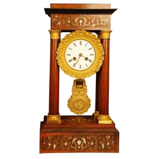 French Portico Clock For Sale