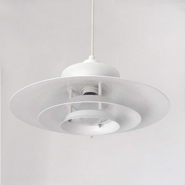 "Danish Modern Vintage Danish Mid-Century Pendant Light by Jeka ""Silhuet"" For Sale - Image 3 of 6"