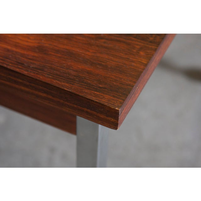 Large Rosewood Rolling Coffee Table - Image 6 of 8