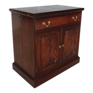"L & Jg Stickley Figured Mahogany Georgian Style Rolling Flip Top Server 34""w For Sale"