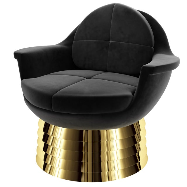 Not Yet Made - Made To Order Iris Lounge Chair by Artist Troy Smith - Contemporary Design For Sale - Image 5 of 7