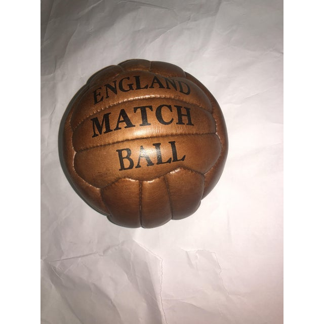 English Soccer Match Leather Ball - Image 7 of 9