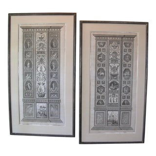 Large 18th Century Italian Engraving Prints - A Pair For Sale