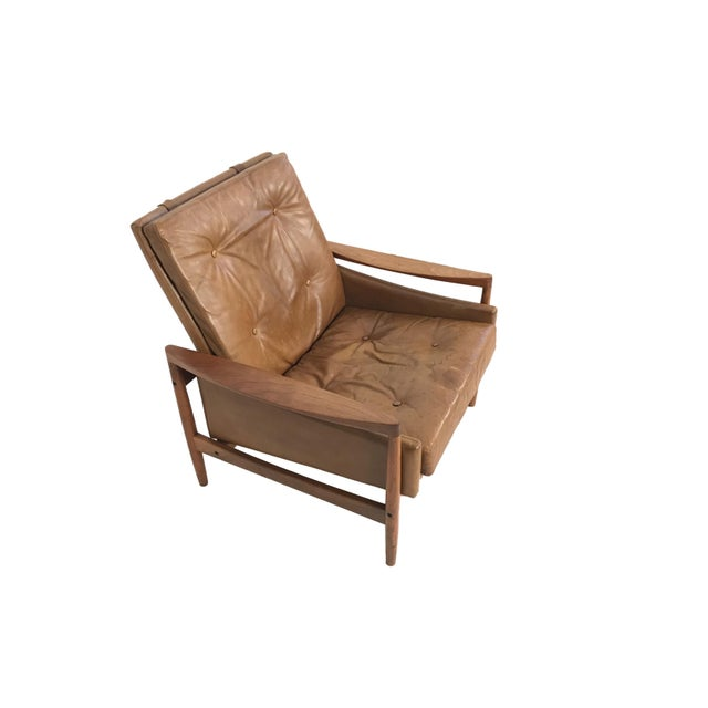 1960s 1960s Vintage Erik Worts Danish Armchair For Sale - Image 5 of 13