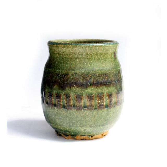 Small Green Ceramic Pot - Image 2 of 6