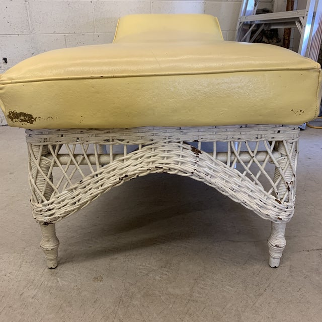 Large Vintage Wicker Chaise Lounge For Sale - Image 9 of 13