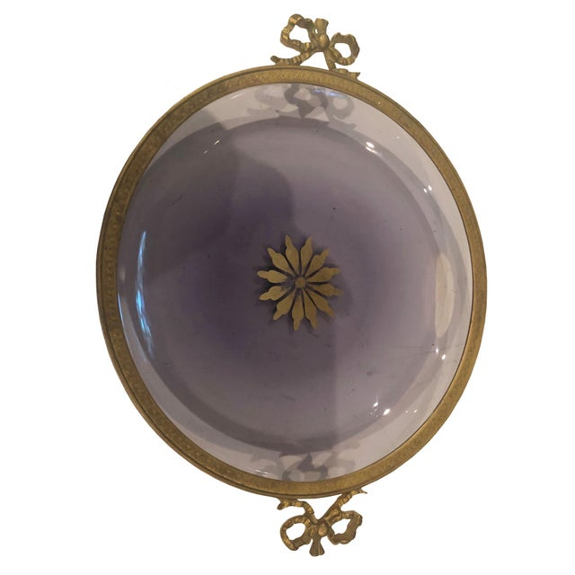 1940s French Amethyst Hollywood Regency Dish For Sale - Image 4 of 5