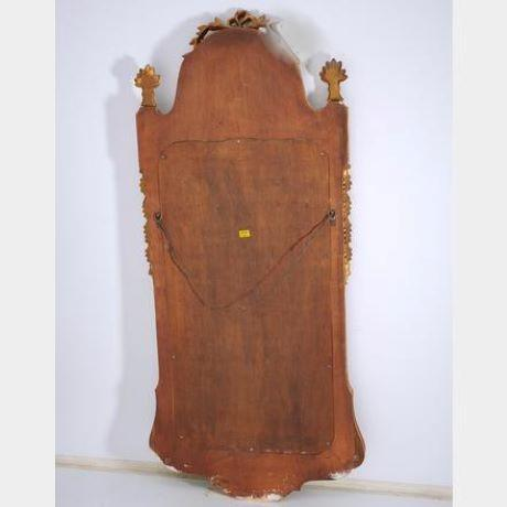 Mid 20th Century Mid 20th Century Federal Style Parcel Gilt Mahogany Mirror For Sale - Image 5 of 8
