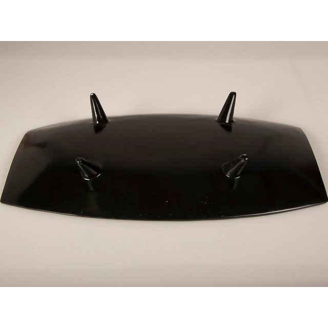 Bamboo Modern Large Black Lacquer Tray Inlaid with Bamboo, Malaysia For Sale - Image 7 of 7