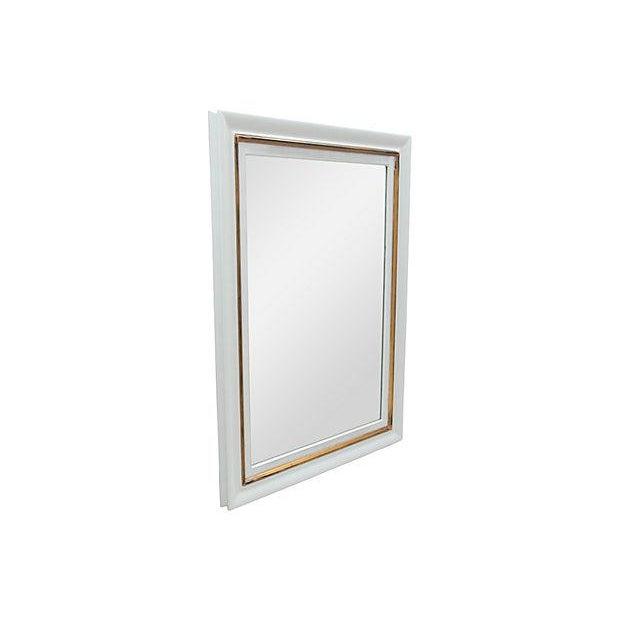 Rectangular Gray Framed Wall Mirror - Image 2 of 5