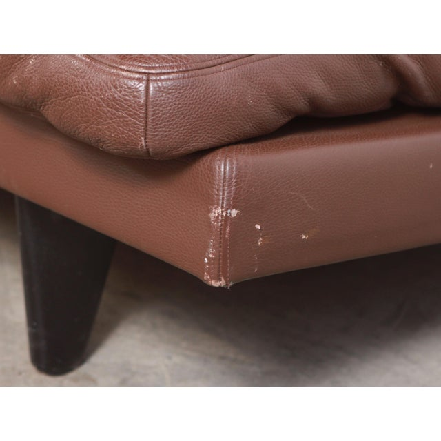DeSede Ds169 Brown Leather Convertible Sofa For Sale - Image 11 of 12