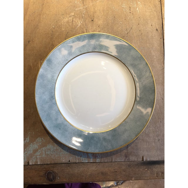Art Deco Set of Six Galuchat Plates by Manuel Canovas for Puiforcat For Sale - Image 3 of 13