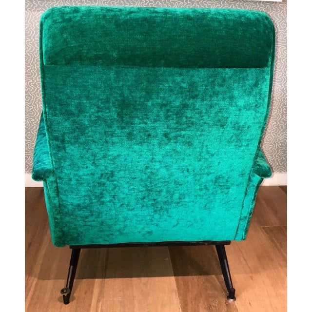 Italian 1950s Velvet Chairs-A Pair For Sale - Image 4 of 6