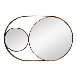 1970s Mid Century Modern Brass Mirror For Sale