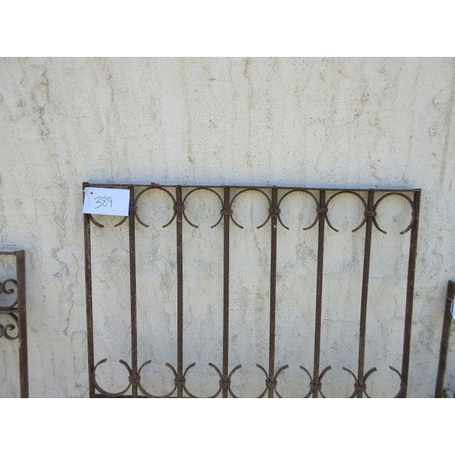 Mid-Century Modern Antique Victorian Iron Gate Window Garden Fence Architectural Salvage Door For Sale - Image 3 of 6