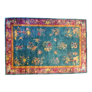 Chinese Art Deco Rug by Walter Nichols12′ × 18′ For Sale