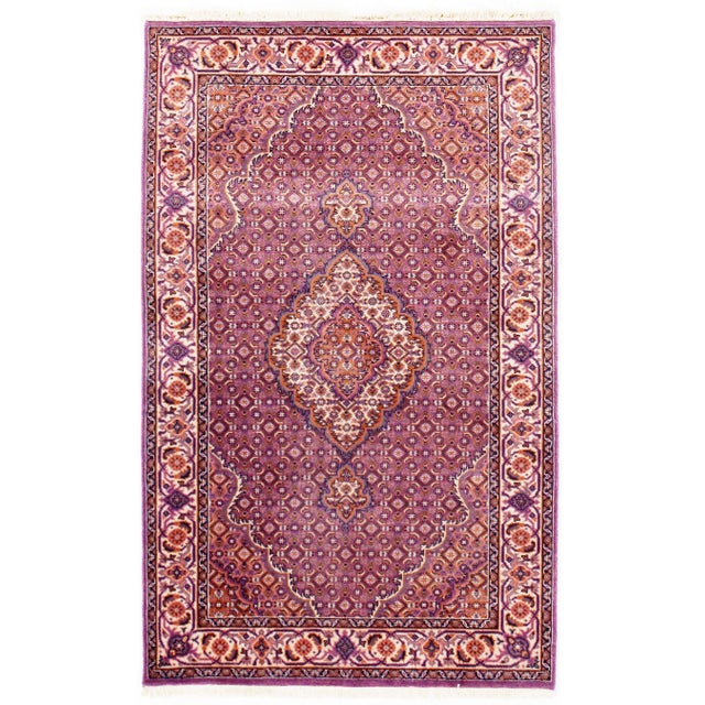 "2010s Traditional Pasargad N Y Fine Tabriz Mahi Design Silk & Wool Rug - 3' X 4'10"" For Sale - Image 5 of 5"