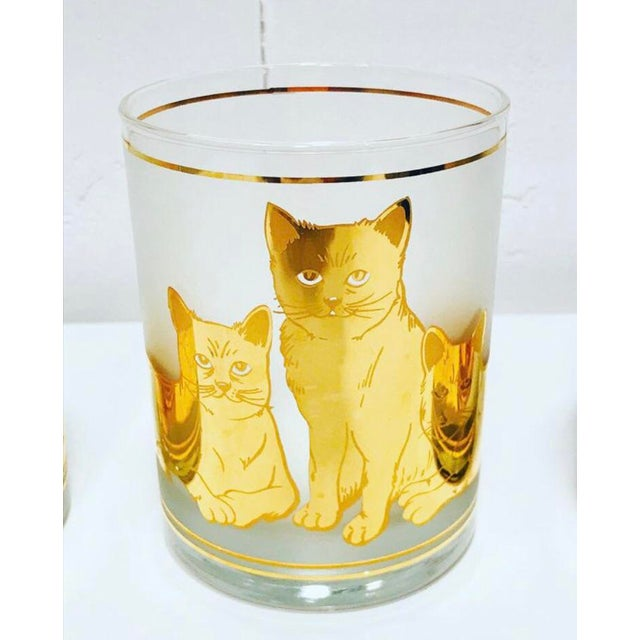 Set of 4 Vintage Culver CATS Glasses 22kt Gold 14 oz Double Old Fashioned. No chips or cracks. Glasses hold 12 ounces....