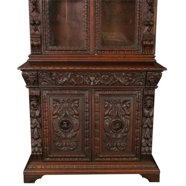 Antique French Buffet Hunting Style Cabinet - Image 3 of 8