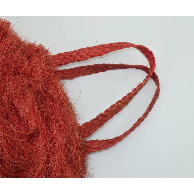Large 1950's Coconut Straw Novelty Tote Handbag For Sale - Image 10 of 11