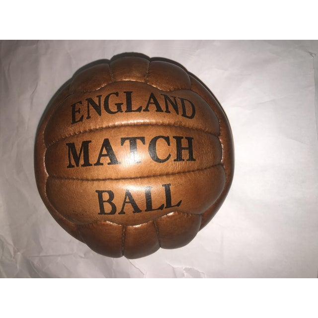 English Soccer Match Leather Ball - Image 6 of 9