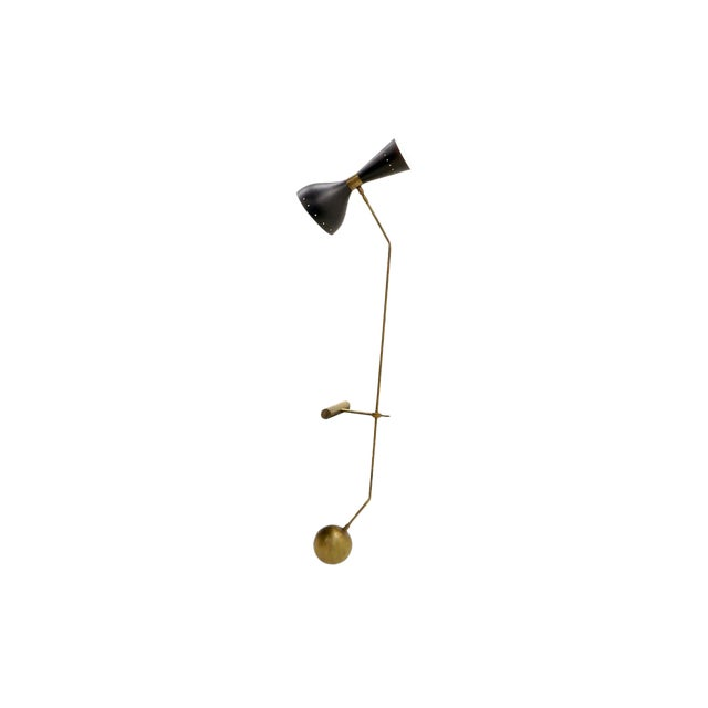 Adjustable Brass Table Lamp With Counter Balance by Stilnovo For Sale