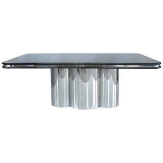 1980s Modern Brueton Stanley Jay Friedman Dining Table With 2 Leaves For Sale