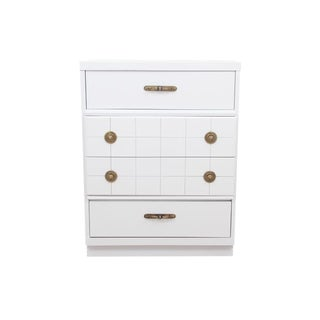 Midcentury Style White Chest of Drawers