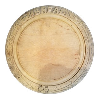19th Century Sycamore Bread Board For Sale