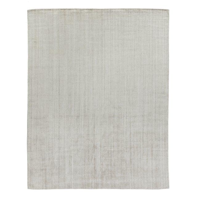 "Beige Hamm Hand loom Wool/Viscose Light Beige Rug-6'x9"" For Sale - Image 8 of 8"