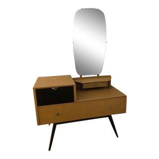 Mid-Century Modern Light Wood Vanity For Sale