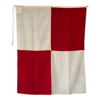 """Vintage Nautical Flag Signal """"U"""""""