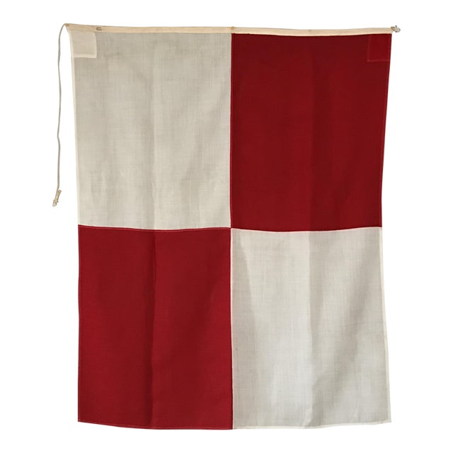 "Vintage Nautical Flag Signal ""U"" - Image 1 of 5"