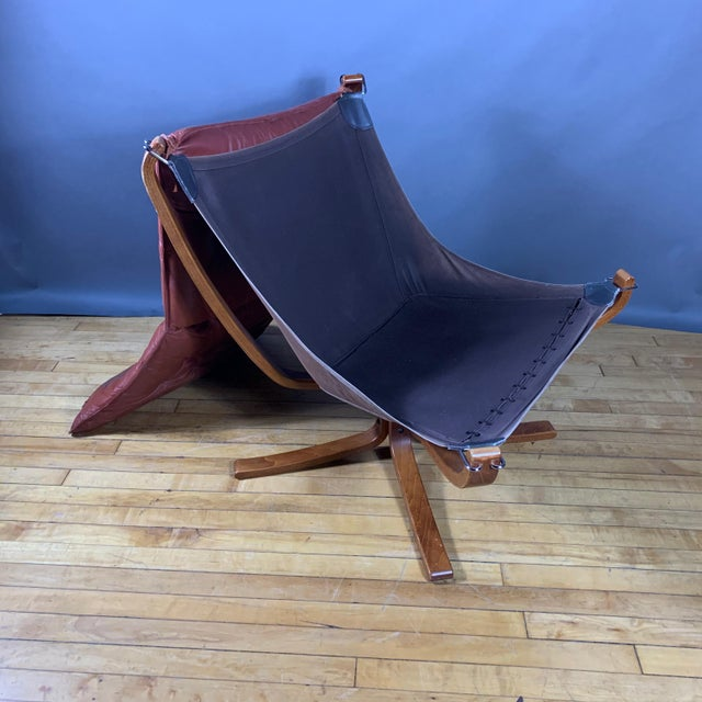 """Sigurd Ressell Low Back """"Falcon"""" Chair, 1970s, Norway For Sale - Image 10 of 11"""