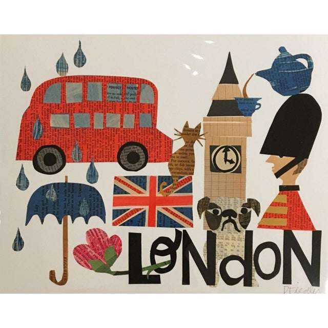 London Collage Print by Denise Fiedler - Image 1 of 4