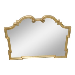Ethan Allen Empire Style Gilt Carved Mirror For Sale