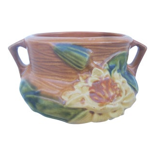 Roseville Ceramic Peony Vessel For Sale