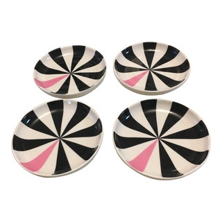 Jonathan Adler Barbie Tidbit Plates - Set of 4