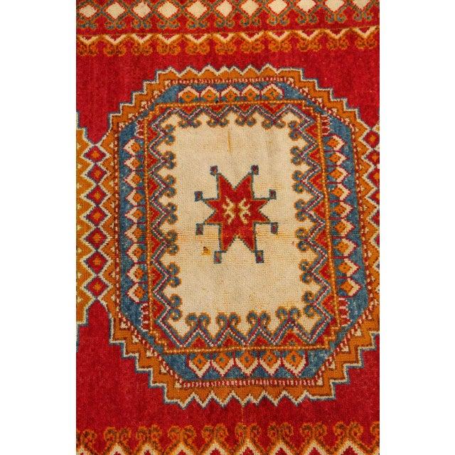 Vintage Moroccan Orange Tribal Rug For Sale - Image 4 of 10