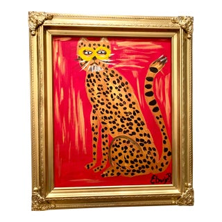 "Abstract Leopard ""Prima Donna"" Painting by Ebony Boyd For Sale"