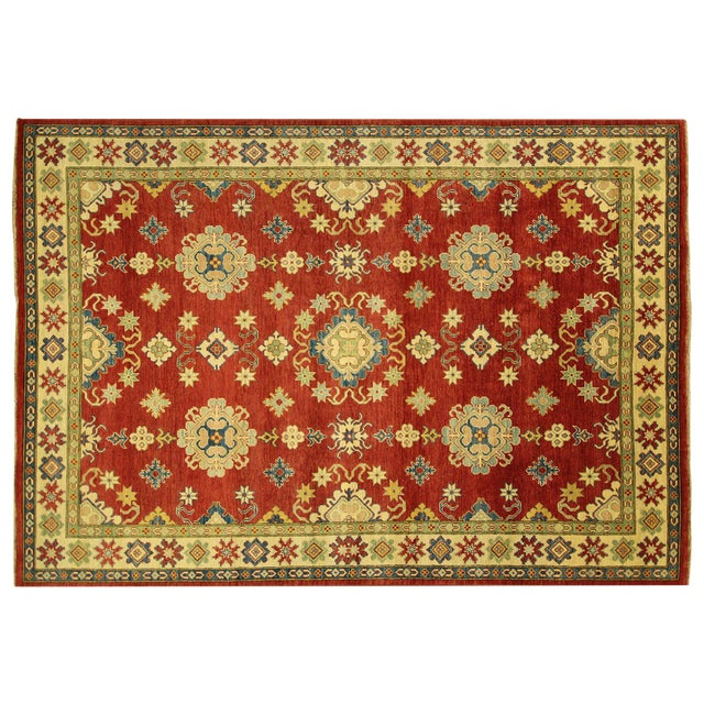 Super Kazak Hand Knotted Rug Red - 9' x 12' - Image 1 of 11
